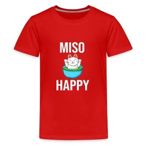 Miso Happy Cute Cate (Neko) - Kids' Premium T-Shirt