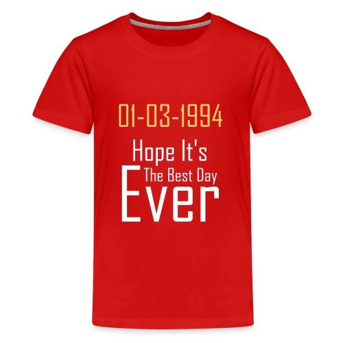 01/03/1994 justin b birthday - Kids' Premium T-Shirt
