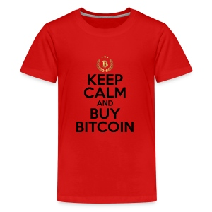 KEEP CALM AND BUY BITCOINS BTC Crypto Shirt - Kids' Premium T-Shirt
