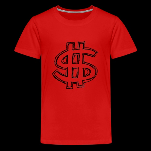 dollar sign drawing 4 - Kids' Premium T-Shirt