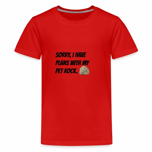 Sorry, I have plans with my pet rock. - Kids' Premium T-Shirt