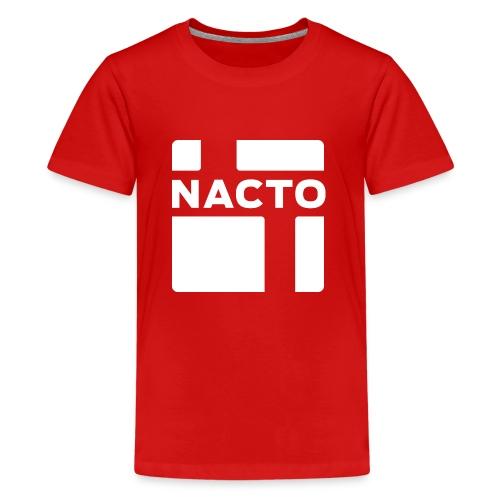 NACTO_logo_white - Kids' Premium T-Shirt