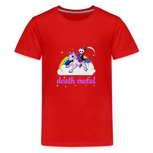 Unicorn death Metal rainbow - Kids' Premium T-Shirt