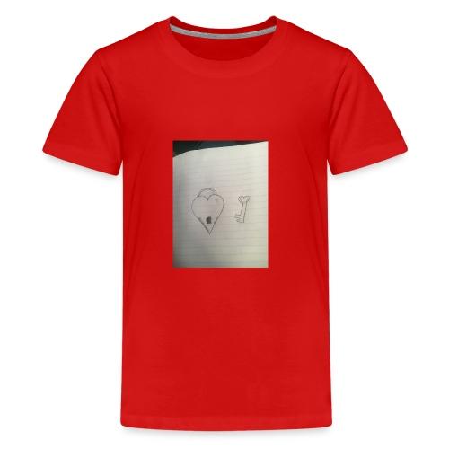 Heart and key - Kids' Premium T-Shirt