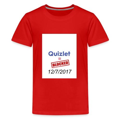 Quizlet Blocked - Kids' Premium T-Shirt