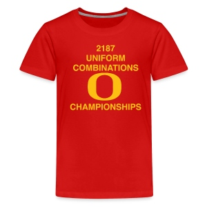 2187 UNIFORM COMBINATIONS O CHAMPIONSHIPS - Kids' Premium T-Shirt