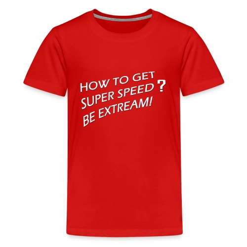 Super Speed Blue - Kids' Premium T-Shirt