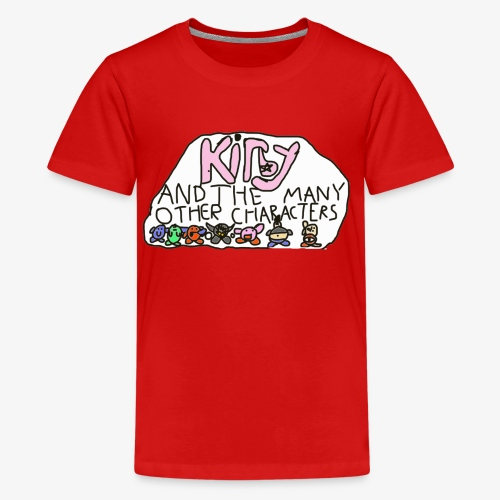 Kirby and the many other characters - Kids' Premium T-Shirt