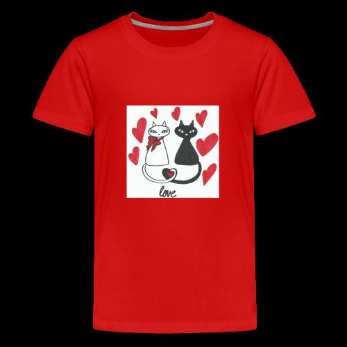 Cats' love - Kids' Premium T-Shirt