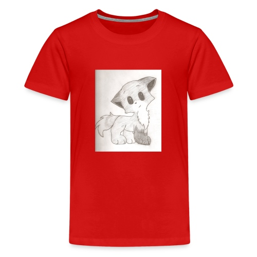 Adorable Drawing Of Anime Fox - Kids' Premium T-Shirt