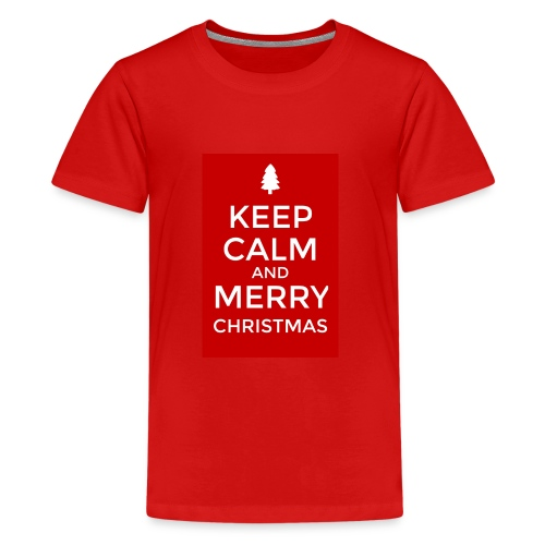 KEEP CALM AND MERRY CHRISTMAS - Kids' Premium T-Shirt