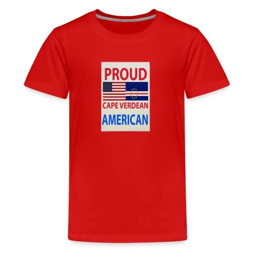 Proud cape verdian flag - Kids' Premium T-Shirt