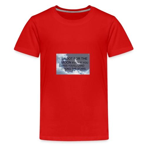 simple background white background wallpaper 1 - Kids' Premium T-Shirt