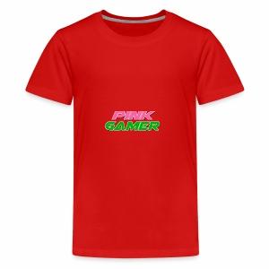 PINK Gamer Logo: Light Outline - Kids' Premium T-Shirt