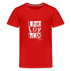 The Toy box Studio - White Logo - Kids' Premium T-Shirt
