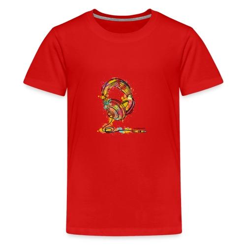 Watercolour Headphone - T-Shirt - Kids' Premium T-Shirt