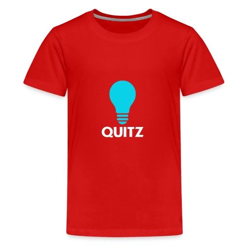 Quitz Blue w/ white text - Kids' Premium T-Shirt