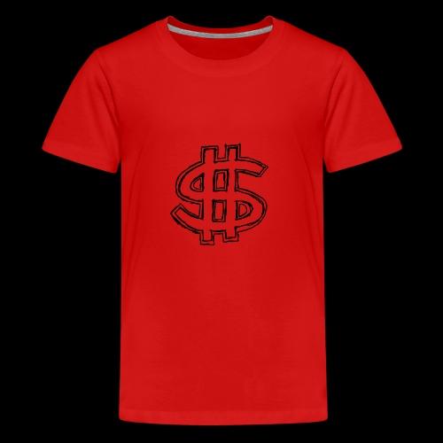 dollar sign drawing 4 - Kids' Premium T-Shirt