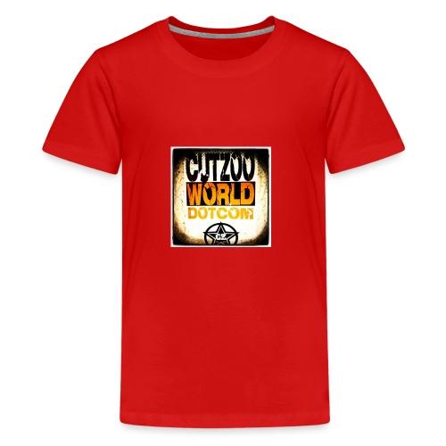 CutZooWorld logo - Kids' Premium T-Shirt
