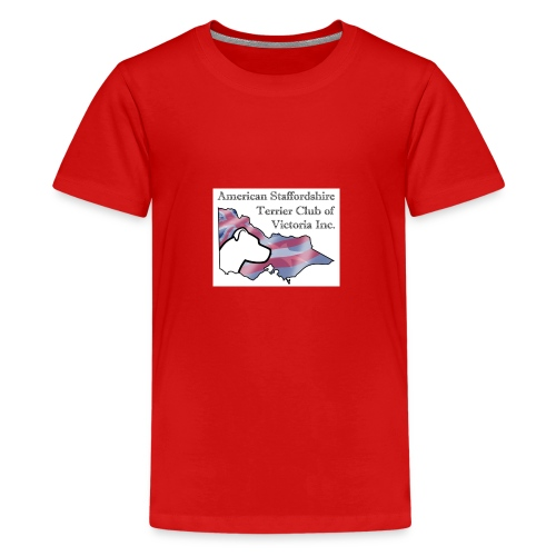 ASTCV Logo Colour on White - Kids' Premium T-Shirt