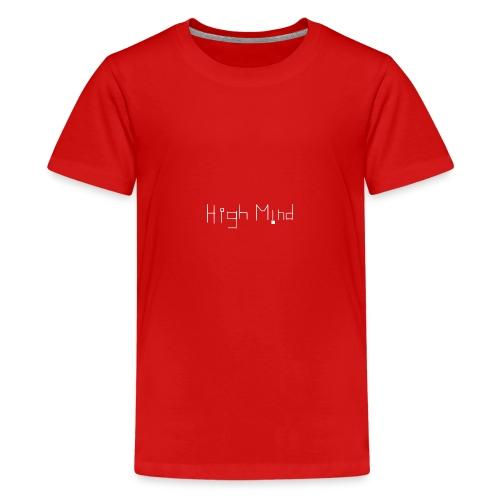 HIGH MIND ORIGINAL WHITE BLACK - Kids' Premium T-Shirt