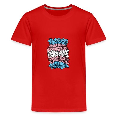 Transgender Crystallized Flag - Kids' Premium T-Shirt