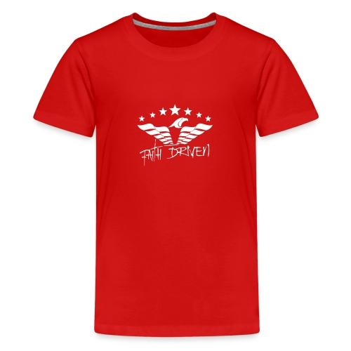 Faith Driven white logo - Kids' Premium T-Shirt