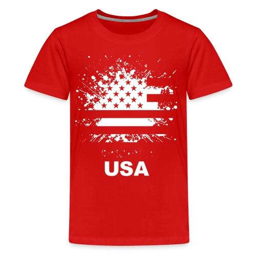 American flag usa - Kids' Premium T-Shirt