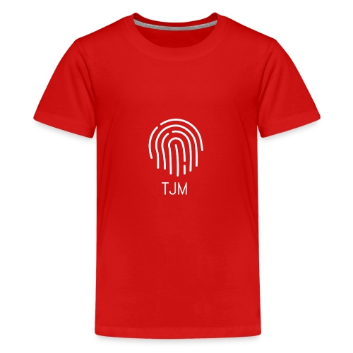 White TJM logo - Kids' Premium T-Shirt