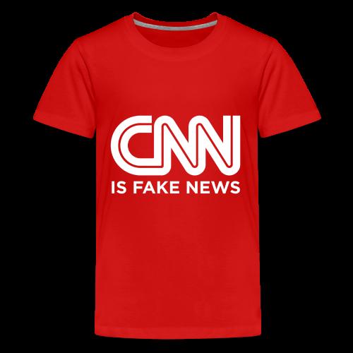 CNN Is Fake News - Kids' Premium T-Shirt