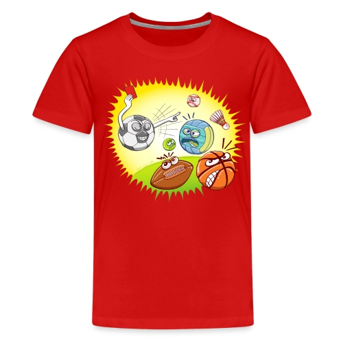 Soccer showing red card to other sports - Kids' Premium T-Shirt