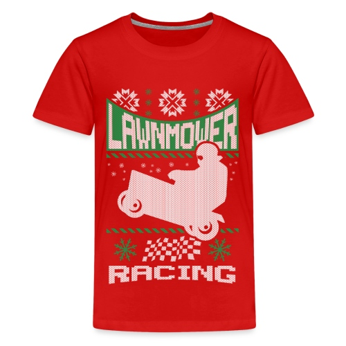 Lawnmower Ugly Christmas - Kids' Premium T-Shirt