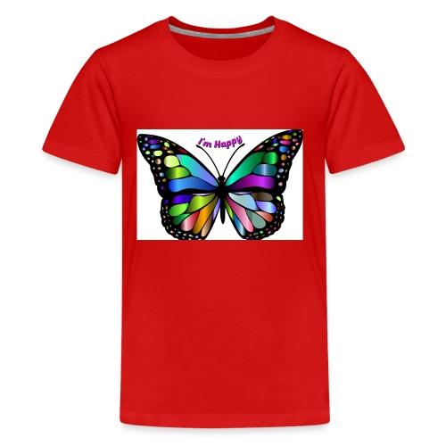 Happy Butterfly - Kids' Premium T-Shirt