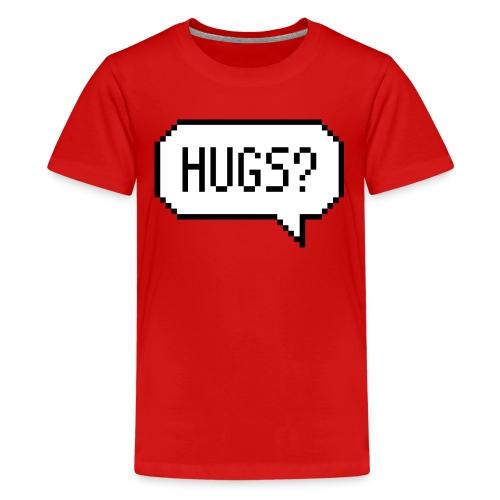 Hugs Pixelart Speech Bubble - Kids' Premium T-Shirt