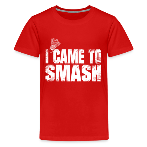 badminton i came to smash gift t shirt ideas - Kids' Premium T-Shirt