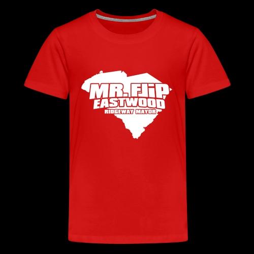 Mr. Flip - Official Logo (White) - Kids' Premium T-Shirt