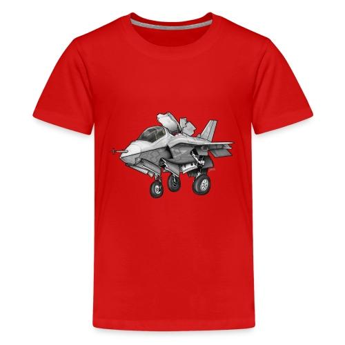 F-35B Lighting II Joint Strike Fighter Cartoon - Kids' Premium T-Shirt