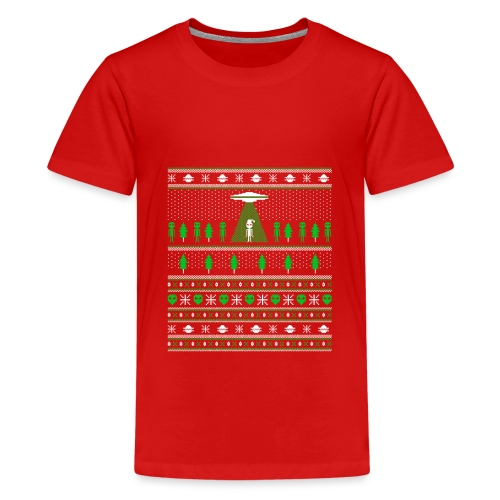 UFO ALIEN UGLY Christmas - Kids' Premium T-Shirt