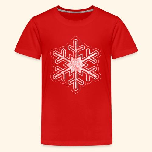 Grunge Christmas Snowflake - Kids' Premium T-Shirt