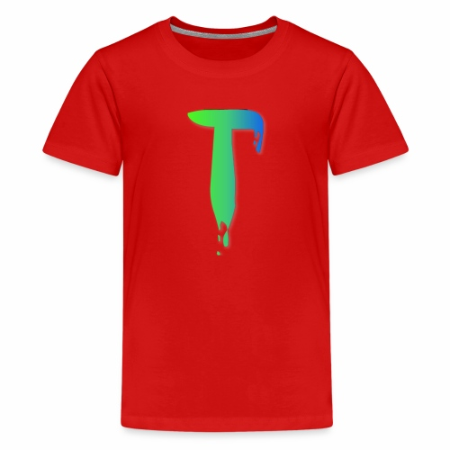 Colored Tlicker Logo - Kids' Premium T-Shirt