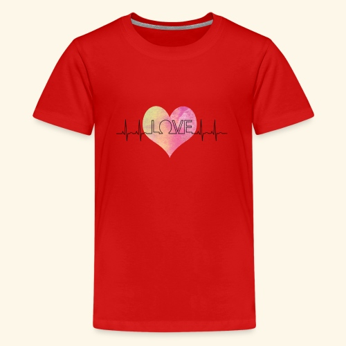 Love Makes My Heart Beat - Kids' Premium T-Shirt