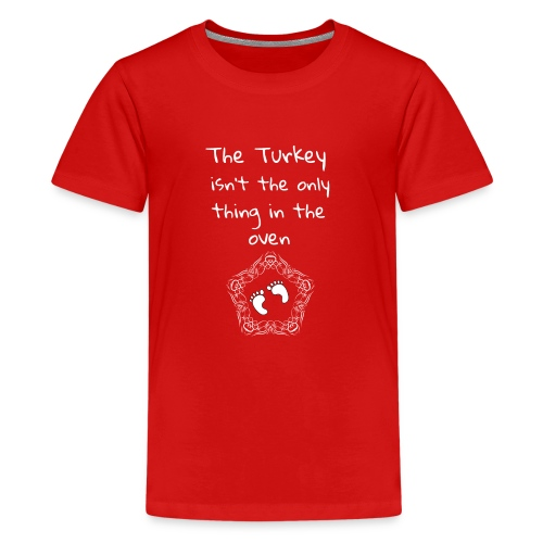 Baby Pregnancy Announcement and Thanksgiving Shi - Kids' Premium T-Shirt