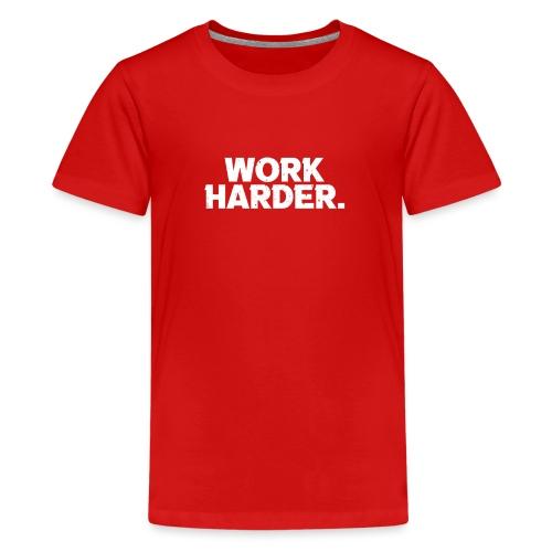Work Harder distressed logo - Kids' Premium T-Shirt