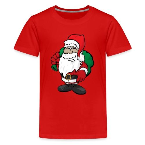 Santa Claus Cartoon Illustration - Kids' Premium T-Shirt
