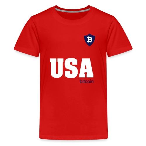USA Bitcoin - Kids' Premium T-Shirt