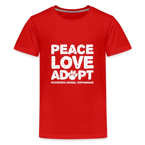 Peace Love Adopt Front png - Kids' Premium T-Shirt