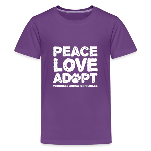 Peace Love Adopt Front png - Kids' Premium T-Shirt