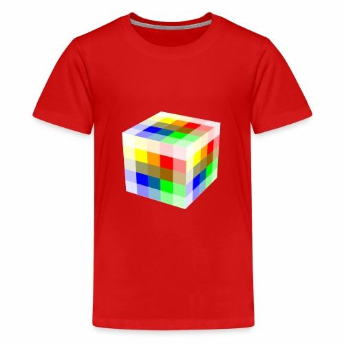 Multi Colored Cube - Kids' Premium T-Shirt