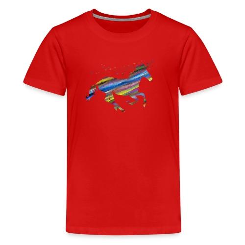 The Majestic Prismatic Streaked Magical Unicorn - Kids' Premium T-Shirt