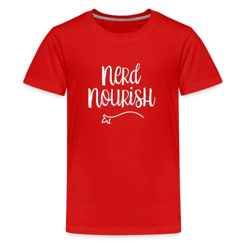 Nerd Nourish White Logo - Kids' Premium T-Shirt
